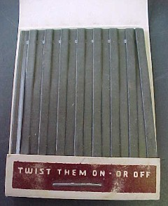 vintage Twistons line sinkers for the fisher person look like a match book