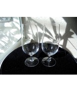 "Set of 2 Stolzle Lausitz Crystal Wine Glasses 7"" Tall - £19.56 GBP"