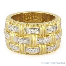 0.35ct Round Diamond Right-Hand Heavy Fashion Band 14k Yellow & White Go... - €1.546,86 EUR