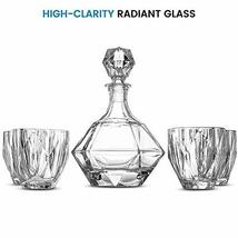 TkGoods Crystal Decanter Set - High-End 5 PCS Decanter Set Glassware - $89.10
