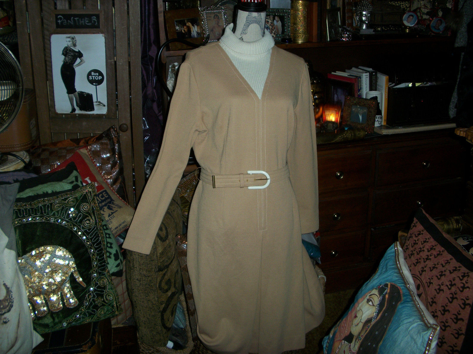 Primary image for GREGG DRADDY Adorable Vintage Peanut  Mary Tyler Moore Dress Size 18