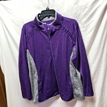 St Johns Bay Womens Plus 2X Quick Dri Purple Gray Zip Up Jacket Two Tone - €13,95 EUR