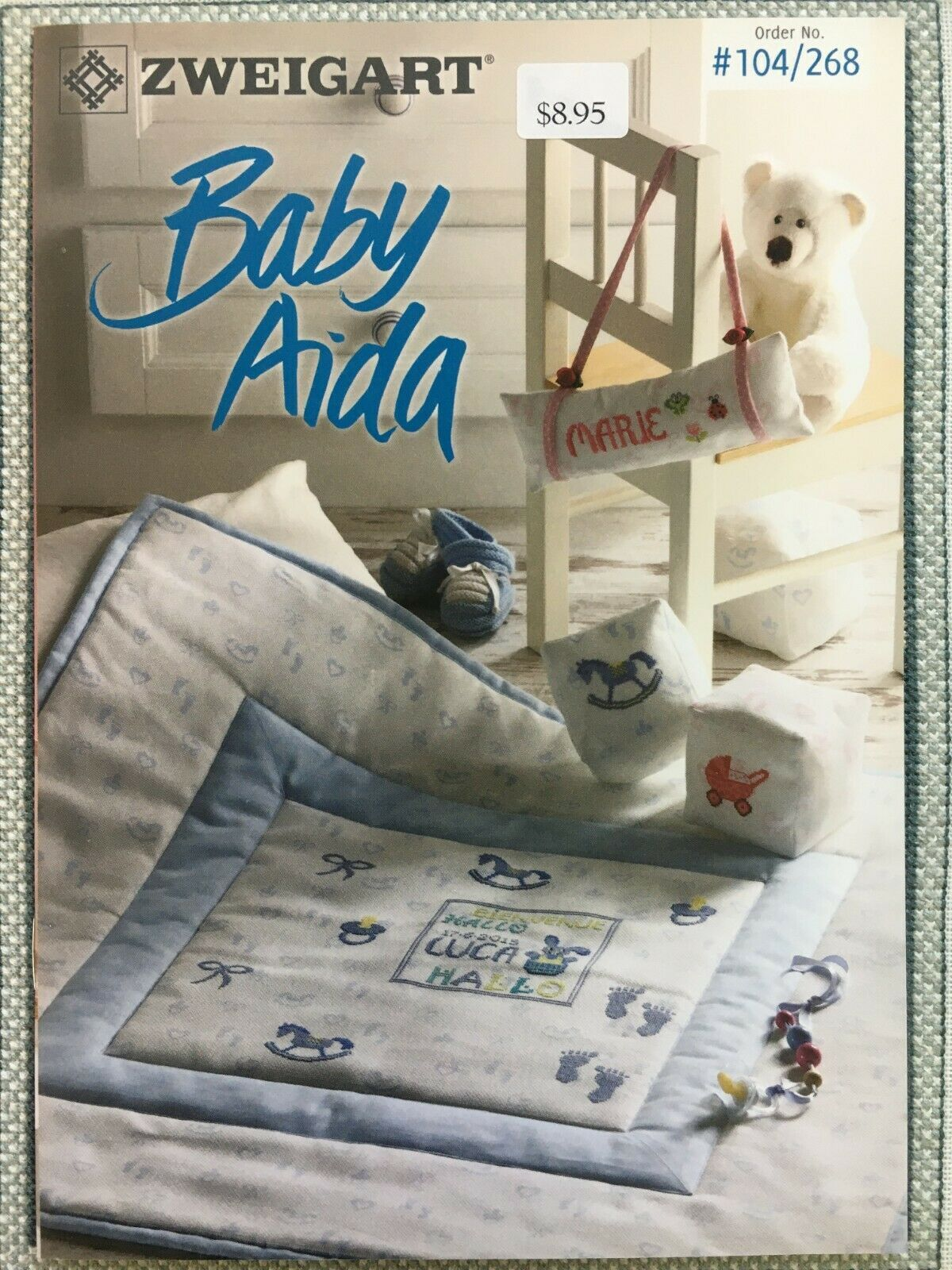 Primary image for Zweigart Booklet Baby Aida Cross Stitch #268 Birth Sampler Alphabets Boys Girls