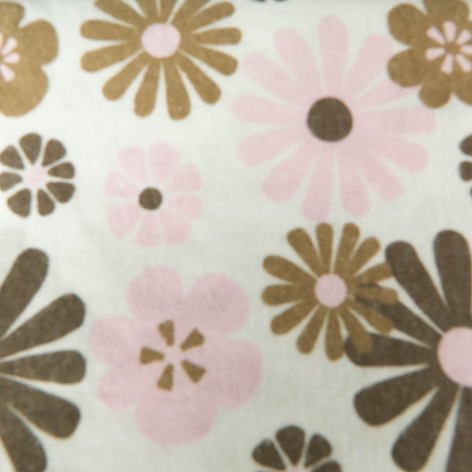 Set of 2 Carters Receiving Blankets Girls Pink Brown Floral Dots 100% Cotton