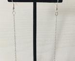 Swarovski Bermuda Blue triangle chain earrings - $18.17 CAD