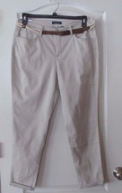 Bandolino LISBETH Curvy Fit Skinny Leg Ankle Pants Creamstone  Women's S... - $29.00