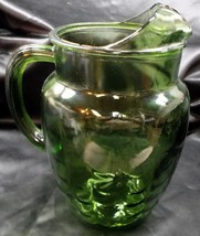 Green Unmarked Pitcher with 'Fish Scale' Pattern - $11.95