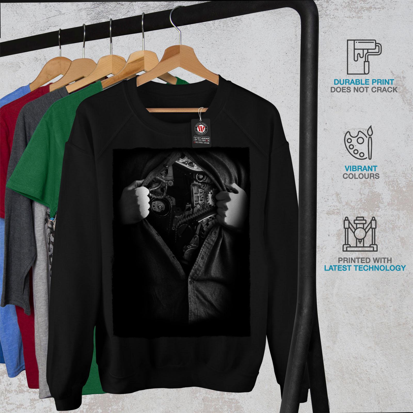 wellcoda Dream Urban Photo Mens Sweatshirt Urban Casual Jumper