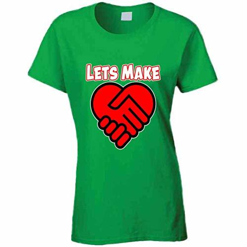 Let Make A Deal in Love Ladies T Shirt S Irish Green