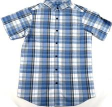 Men's Shirt Columbia SS Thompson Hill Yarn Dye Button-Down Woven Marine Plaid