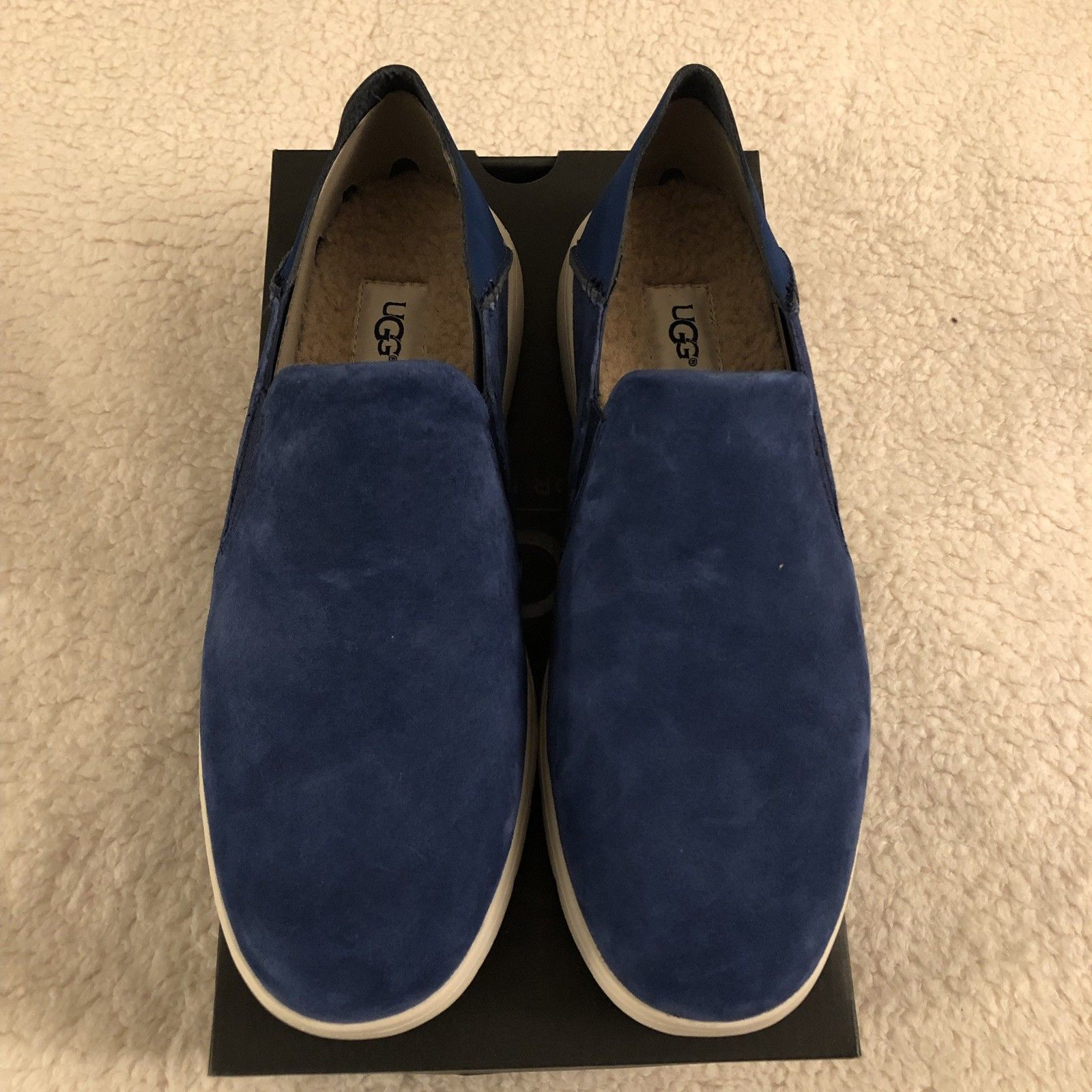 NEW UGG Men's Knox Suede Slip On Sneaker, Sizes 9, 11  Blue, MSRP $100 image 6