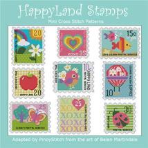 Happy Land Stamps cross stitch chart Pinoy Stitch - $13.50