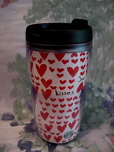 Starbucks Coffee Travel Mug Cup Red Hearts Sweetheart Kisses Collector S... - $9.99