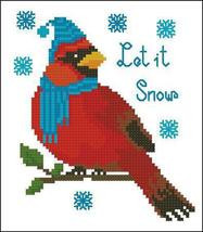 Cardinal Let It Snow cross stitch chart Pinoy Stitch - $4.50