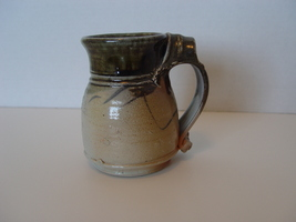 Handcrafted Pottery Ceramic Art Mug , Signed, In Browns & Blues   - $14.99