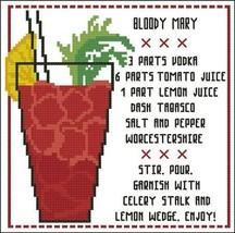 Cocktail Bloody Mary cross stitch chart Pinoy Stitch - $4.50