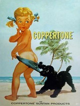 Coppertone Girl Suntan Lotion Vintage Style Ad Metal Sign - $29.95