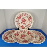 Copeland Spode ASTER Red Gadroon Shape Dinner Plate (s) LOT OF 4 - $86.13