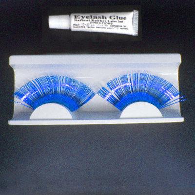 Fancy Shiny CURVE FALSE EYELASHES Eye Lash Blue UK Bonanza