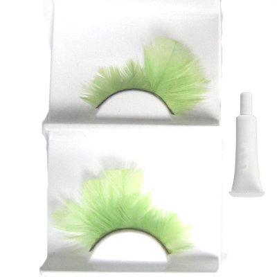 Studio feather green False Eyelashes Eyelash +GLUE UK Bonanza
