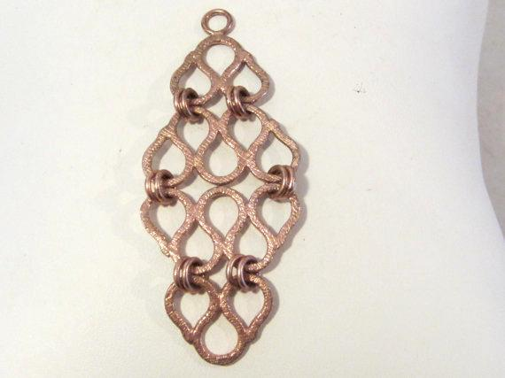 Sterling silver 925 Rose gold pendant