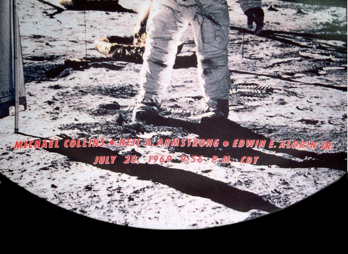 Apollo 11, Moon Landing Souvenir Plate, Melamine, Texas Ware, 1969