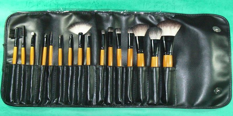 16 pc Pro Studio Mineral Make up Makeup Brushes Set Bonanza