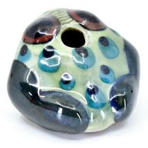 Ceramic Hand Painted Toad Frog Toothpick Holder Table Decor Handmade Guatemala image 4
