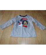 Size 24 Months Disney Mickey Mouse Happy Holidays Christmas  Gray L/S To... - $8.00