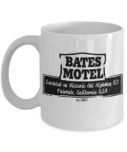 Bates Motel Psycho Inspired Aged Look est.1960. 11 oz White Coffee or Tea Mug - $15.99