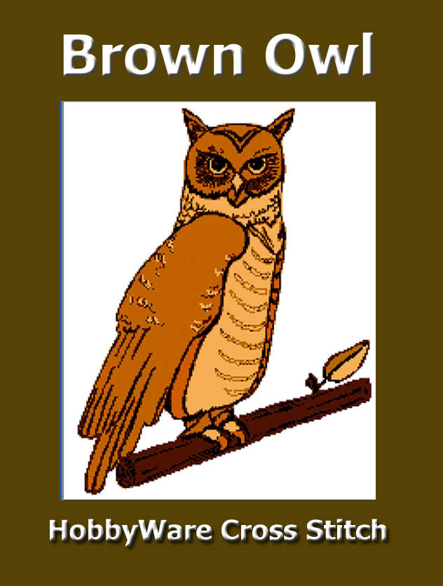 Brown Owl HobbyWare Cross Stitch ePattern Original Design