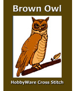 Brown Owl HobbyWare Cross Stitch ePattern Original Design - $3.00