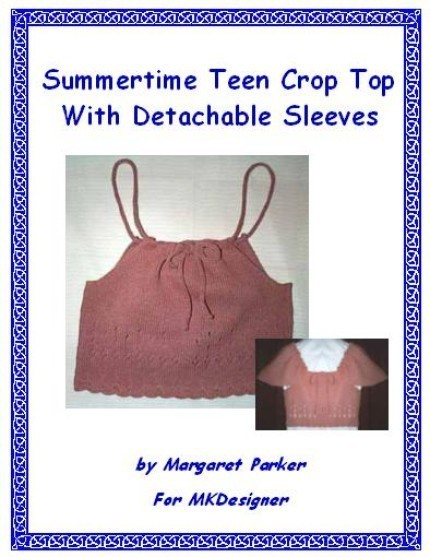Summer Crop Top Machine Knit ePattern PDF or WORD