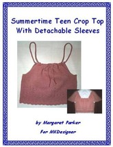 Summer Crop Top Machine Knit ePattern PDF or WORD - $1.44