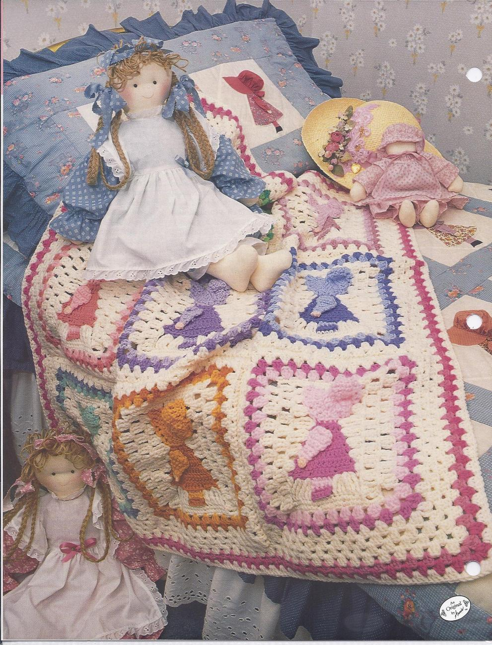 Sunbonnet Sue Afghan Crochet Pattern~RARE~Annie's