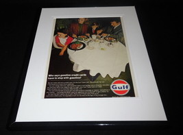 1966 Gulf Oil Travel Card 11x14 Framed ORIGINAL Vintage Advertisement - $41.71