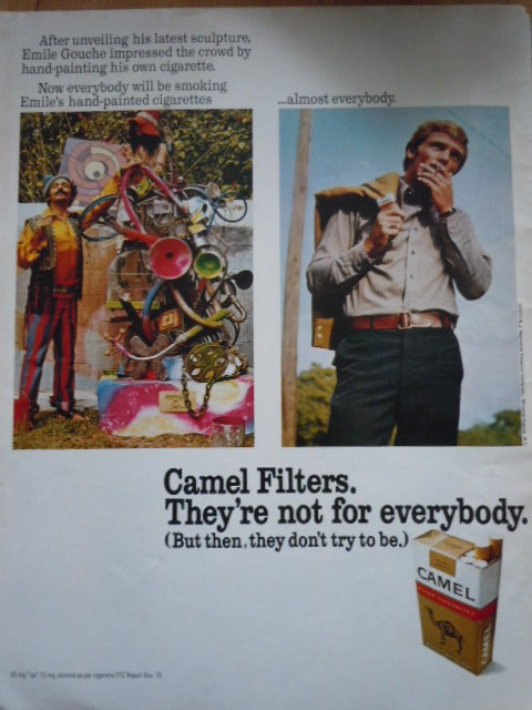 Vintage Camel Filters They're Not For Everybody Print Magazine Ad 1971 - $6.99