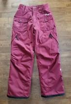 Orage Boys Girls Ski Snow Boarding Pants Sz 14 Maroon Red Insulated Wate... - $14.99