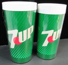Pair Of Thermo Serv 7 Up Tumbers #1 & #3 -J4 - $14.95