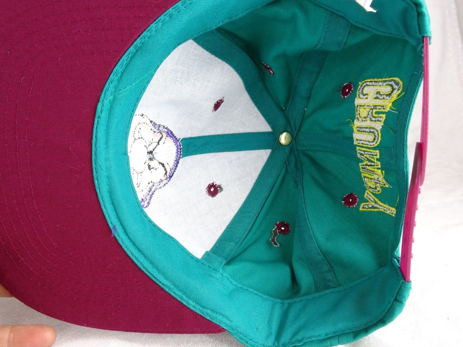 057a705e6d3 Walt Disney GRUMPY Snow White   Seven Dwarfs YOUTH Baseball Hat Green VTG  90s