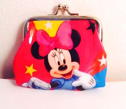 So Cute! Sweet Minnie Mouse Big Red Bow Coin Purse— More Fun Character Coin Pu - $5.00