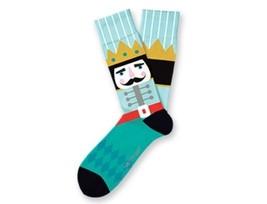 NUTCRACKER Christmas Fun Novelty Socks Two Left Feet Sz Med/Large Dress SOX - $9.99