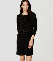 Ann Taylor LOFT Petite Black Speckled Two In  One Sweater Dress Size XSP... - $39.60
