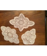 Vintage hand made crocheted Set of 3 doilies  - $15.00