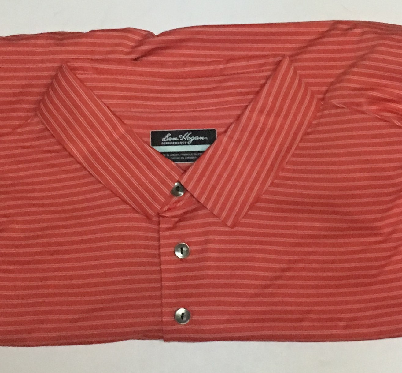 Ben Hogan Golf Performance Polo Shirt Spiced Coral Striped Various Sizes