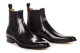 Handmade Men Black color Chelsea boots, Men ankle boots, Mens leather boots  - $179.99