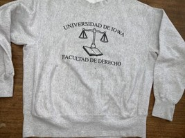 Iowa Law School Sweatshirt University Latin Reverse Weave XL Vintage Gus... - $33.24