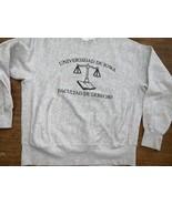 Iowa Law School Sweatshirt University Latin Reverse Weave XL Vintage Gus... - $33.24