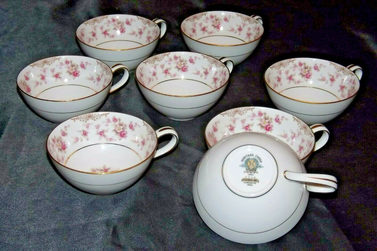 Noritake China (8 Cups) Charmaine 5506 AA20-2360A Vintage