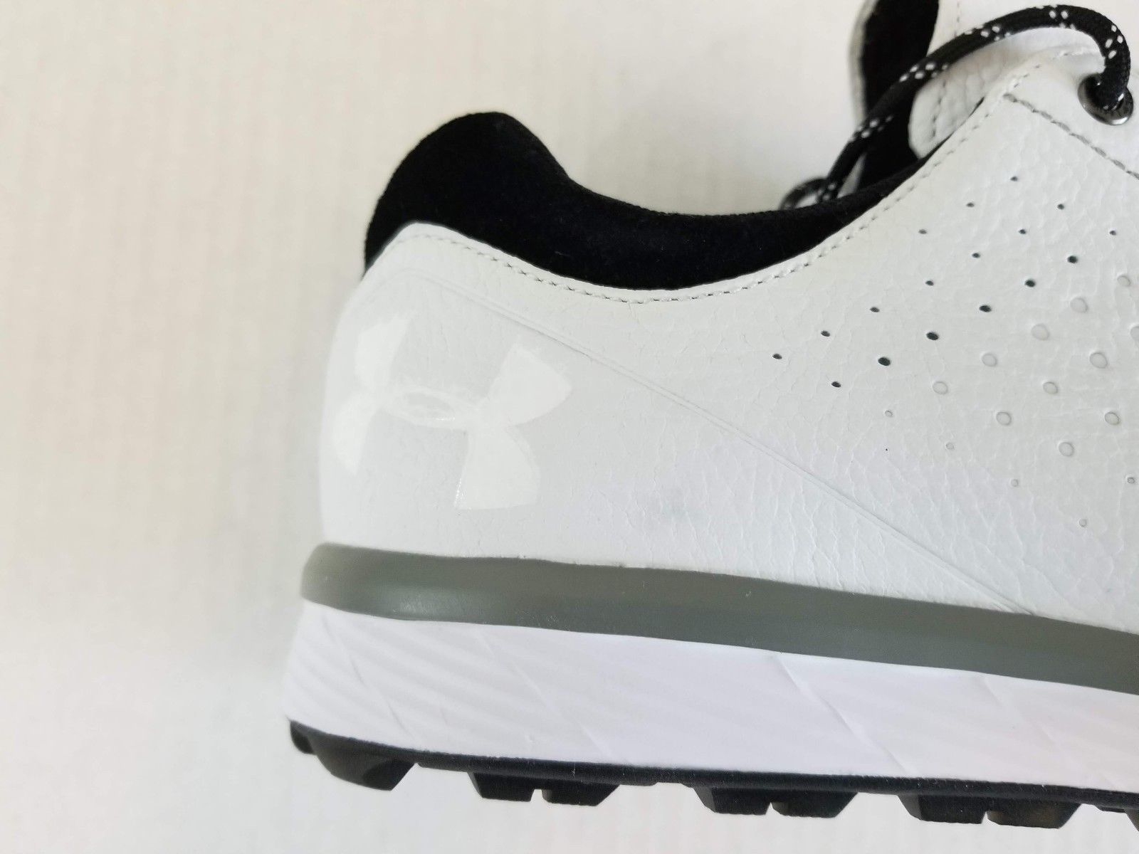 finest selection 5f3fc 411a5 Under Armour Tempo Hybrid Mens Golf Shoes 1270207160 White Black Black Size  9